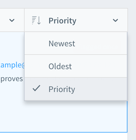 moderation priority dropdown
